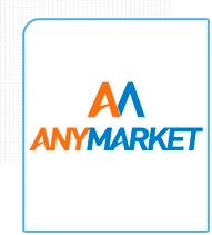 Logo do Anymarket - sistema integrador com marketplace