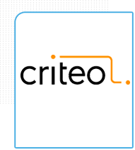 Logo da Criteo- Empresa de remarketing parceira da Eficaz Marketing