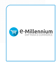 Logo da empresa de ERP E-Millenium parceira da Eficaz Marketing