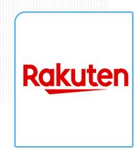 Logo da empresa Rakuten parceiro da eficaz Marketing