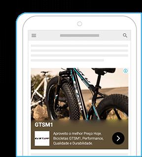 anuncio patrocinado do Google de uma bike