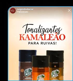 Anúncio patrocinado do instagram ads que mostra um tonalizante