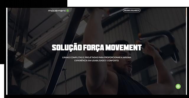 Layout da loja Movement Fitness, desenvolvido e implementado pela Eficaz Marketing