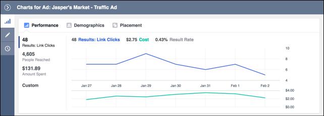 visualizar resultados da campanha de facebook ads