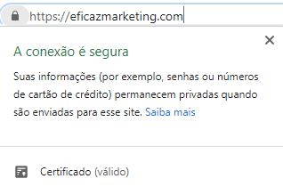 exemplo de site com certificado de segurança https