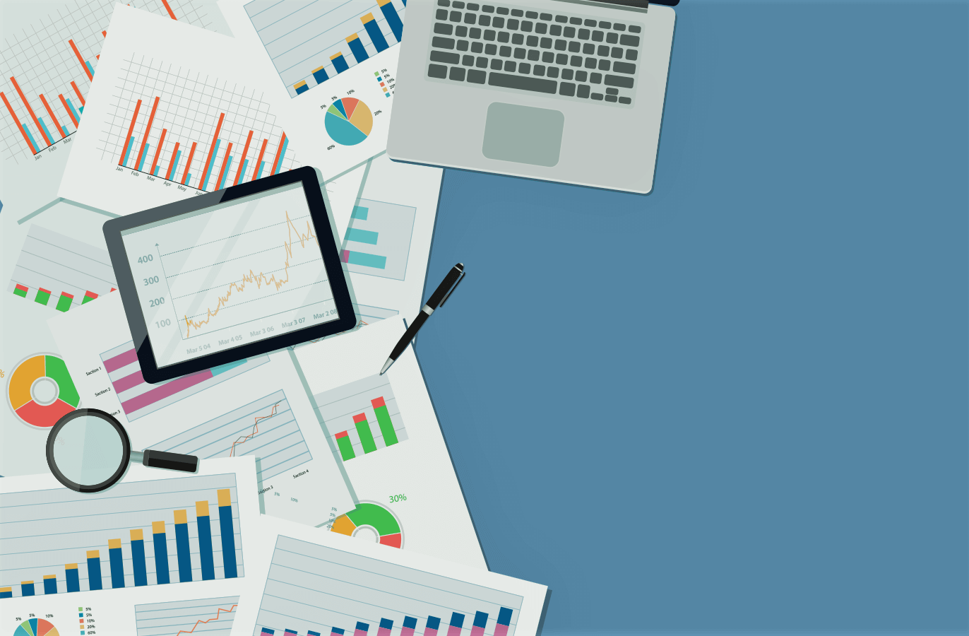 gráficos e indicadores de marketing de performance