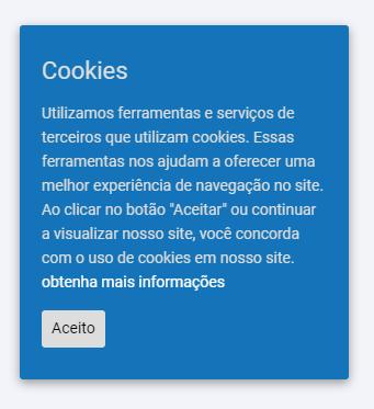 exemplo de como solicitar permissão do uso de cookies