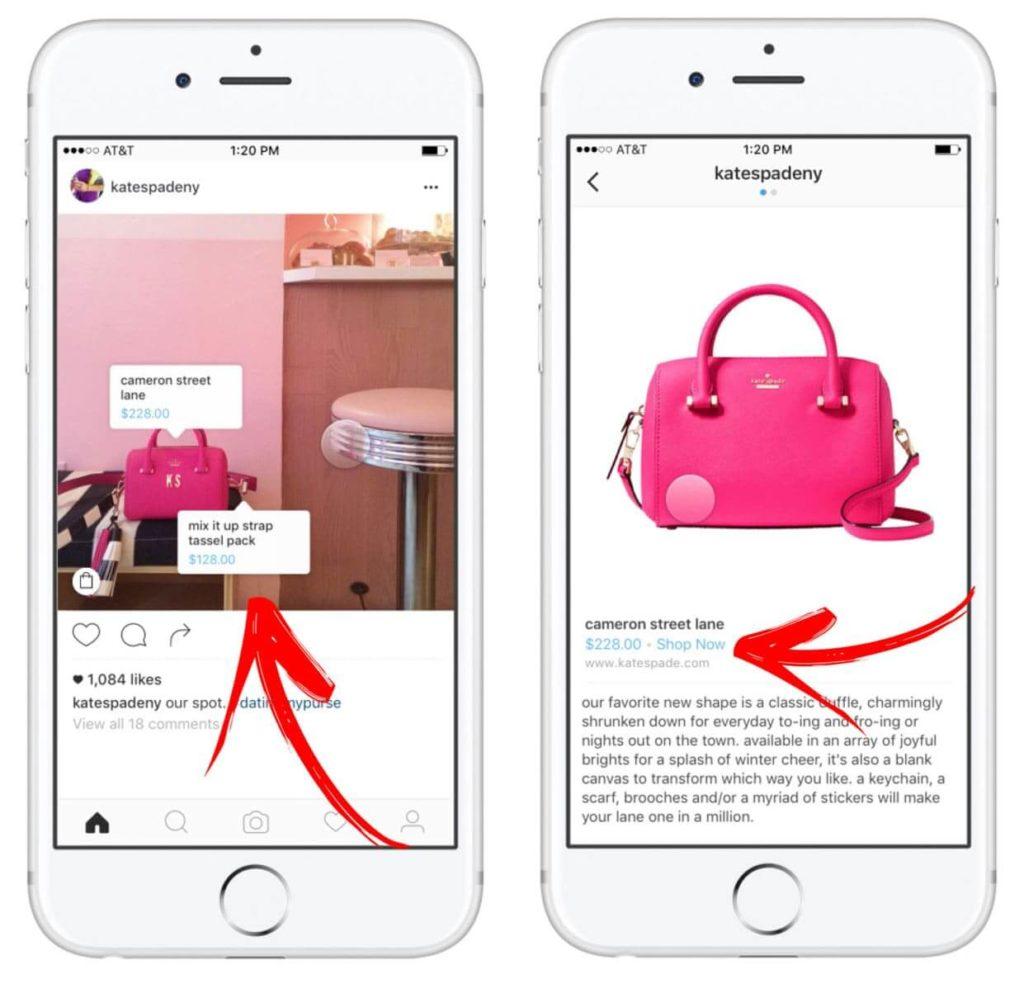 Função Compras: marcação de produtos no instagram