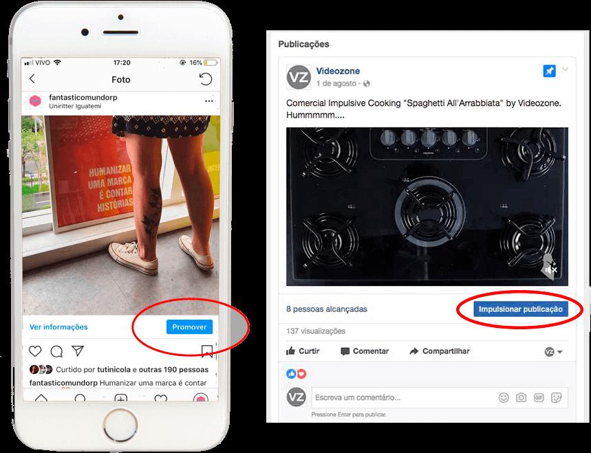 Botão Promover Instagram - Impsulsionar Facebook